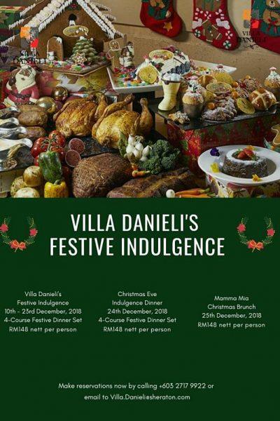 Click here to view Christmas Menu at Villa Danieli
