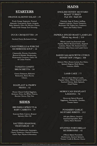 Click here to view Christmas Menu at Vin's Restaurant and Bar